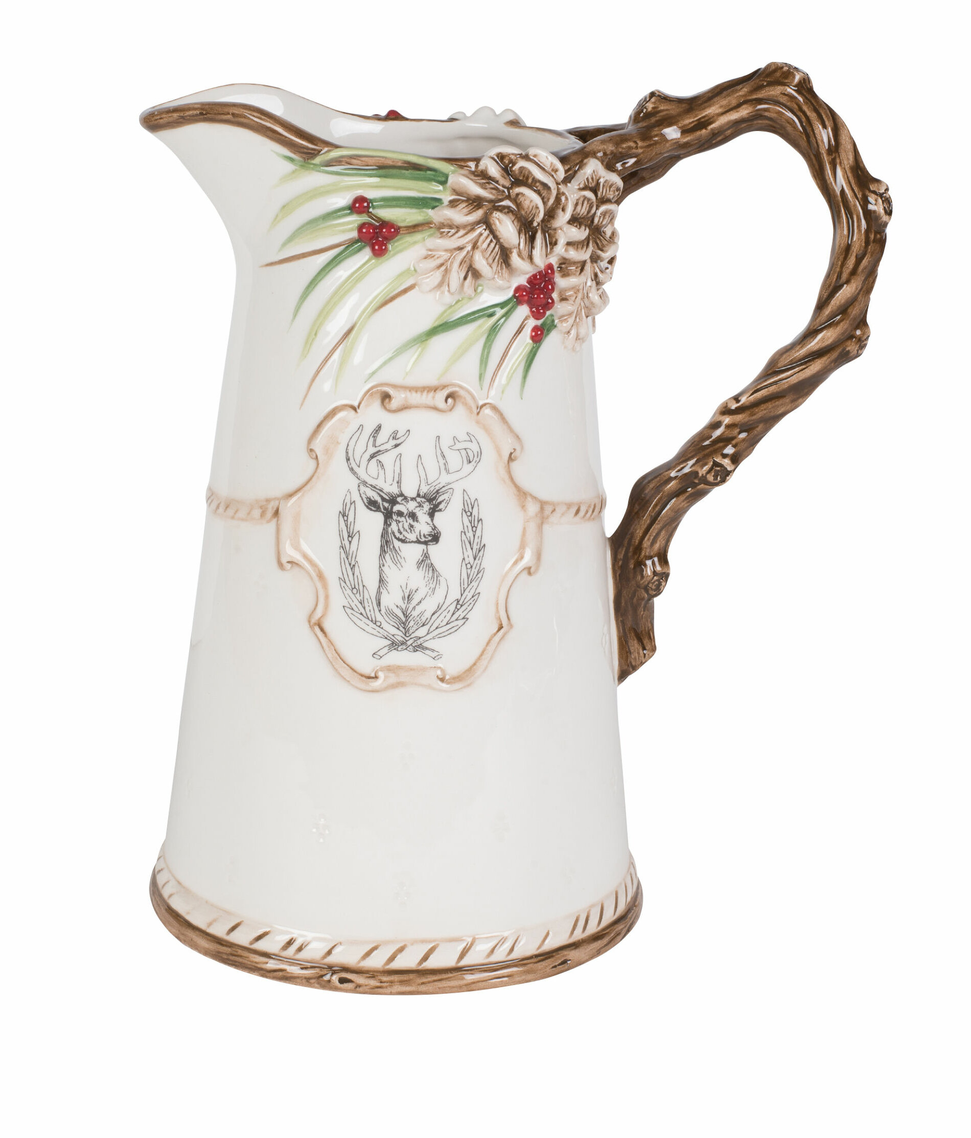 Tea Spout Pitcher Hot Coffee Large Lid Glass Cold Water Jug Punch Frost Pattern