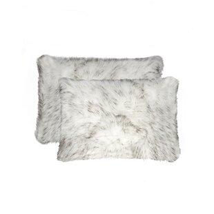 Sheba Faux Fur Lumbar Pillow (Set of 2)