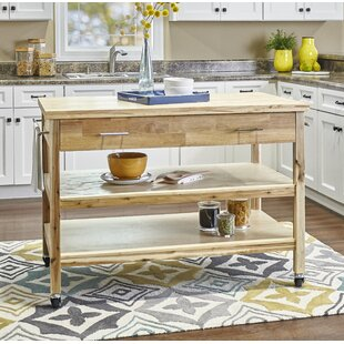 Woodrum Kitchen Cart Millwood Pines