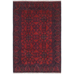 Buying One-of-a-Kind Auxvasse Hand-Knotted 4'2 x 6'5 Wool Red/Black Area Rug By Isabelline