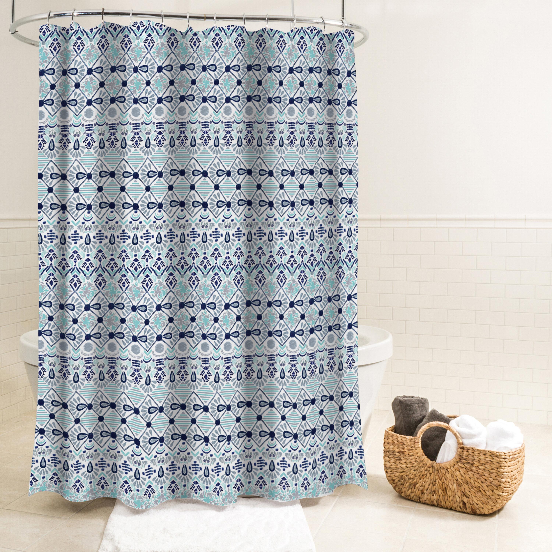 Huston Fabric Single Shower Curtain