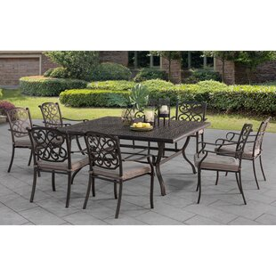 Tyrell Square 9 Piece Dining Set With Cushions by Darby Home Co Best