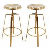 Brody Swivel Adjustable Height Bar Stool (Set of 2) by Everly Quinn