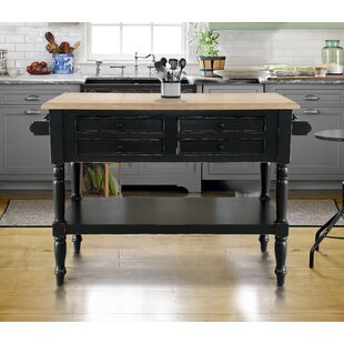 Brookstonval Kitchen Island Solid Wood DarHome Co