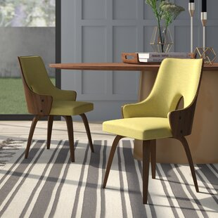 Lewandowski Upholstered Dining Chair (Set of 2) by Mercury Row