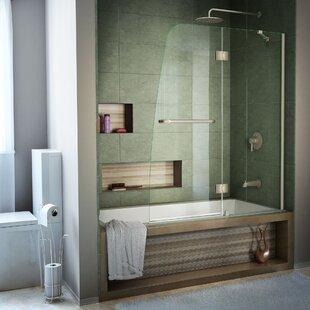 Aqua 48 X 58 Hinged Semi Frameless Tub Door