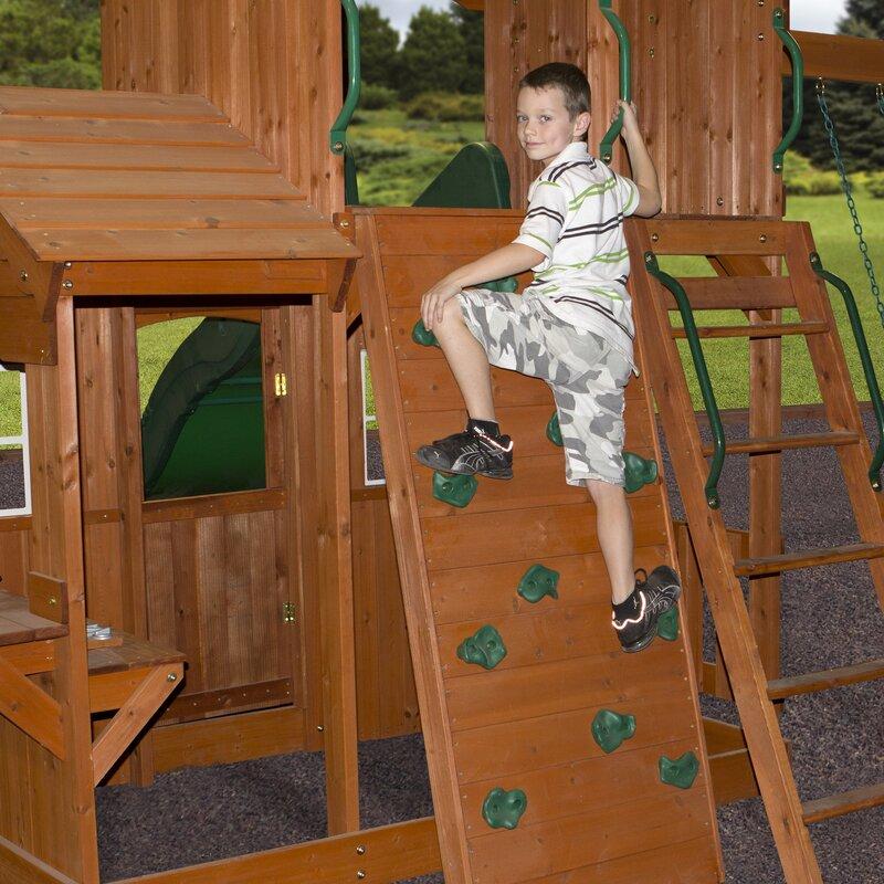 Shenandoah All Cedar Swing Set - Backyard Discovery Shenandoah All Cedar Swing Set & Reviews Wayfair