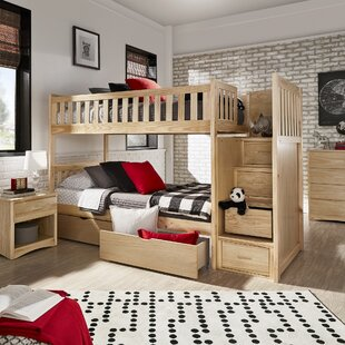 Kibler Elric Staircase Twin Bunk Bed with Storage by Zoomie Kids