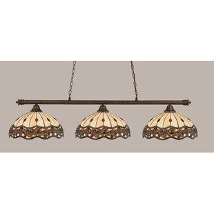 Red Barrel Studio Mendez 3-Light Jewel Tiffany Shade Billiard Light
