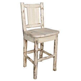 Peabody Rustic 24 Bar Stool Loon Peak