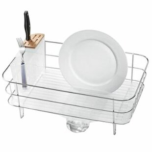 Slim Wire Frame Dish Rack, Stainless Steel