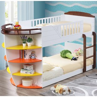 Crewkerne Twin over Twin Bunk Bed with Storage Shelves by Zoomie Kids