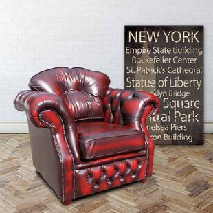 Gillespie High Back Leather Armchair