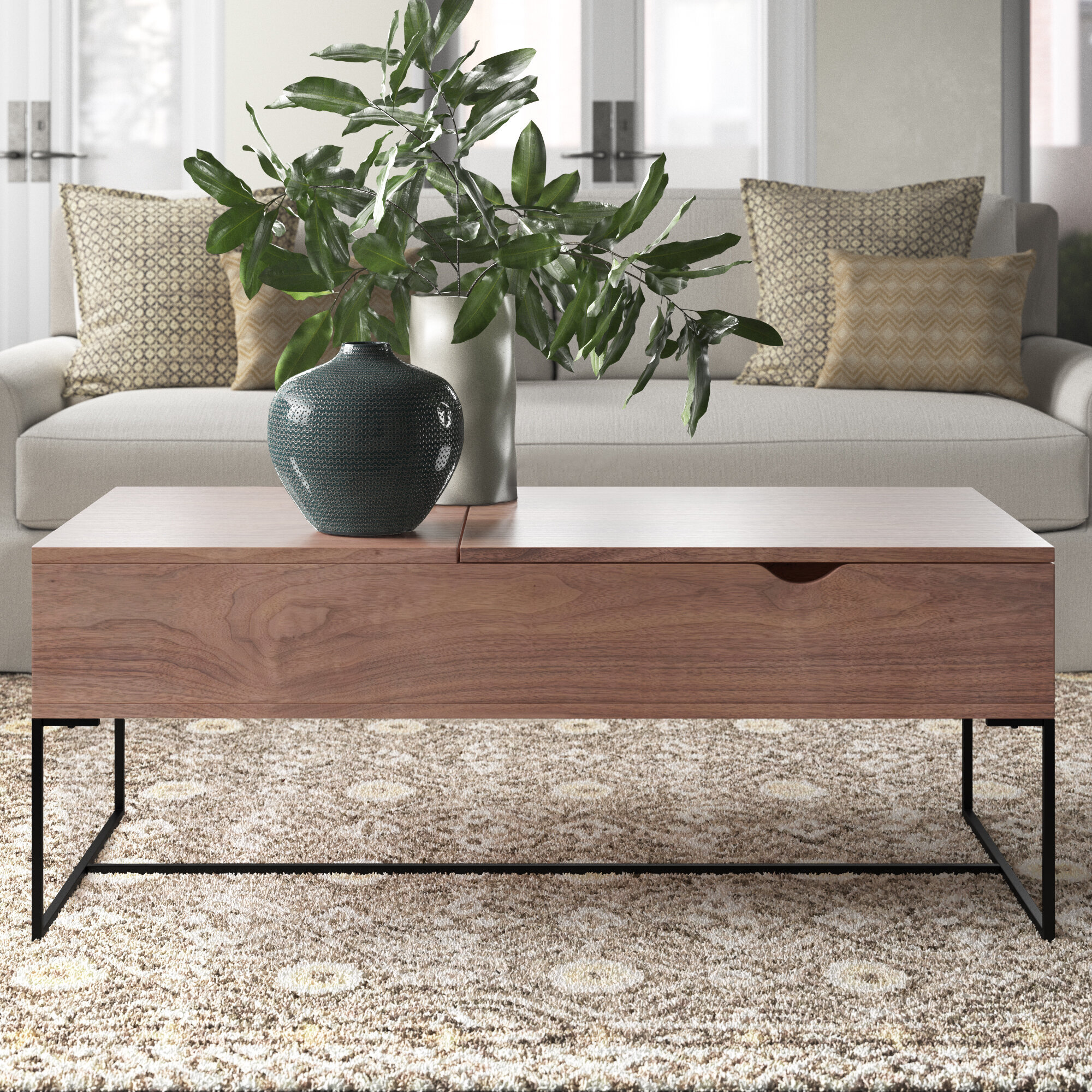 Hand Crafted Terry S Lift Top Pop Up Walnut And Wenge Transformer Coffee Table By Jonathan Walkey Furniture Maker Custommade Com [ 1200 x 1200 Pixel ]