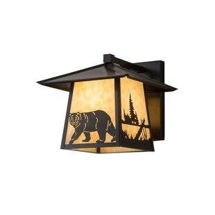 Brannan Lone Bear Outdoor Wall Lantern by..