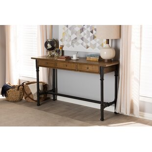 Shopping for Ailith Suzetta Metal and Distressed Wood Writing Desk By Foundry Select