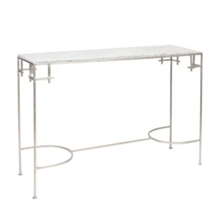 Worlds Away Hammered Console Table
