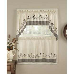 "Birds 58"" Compwin Kitchen Curtains"