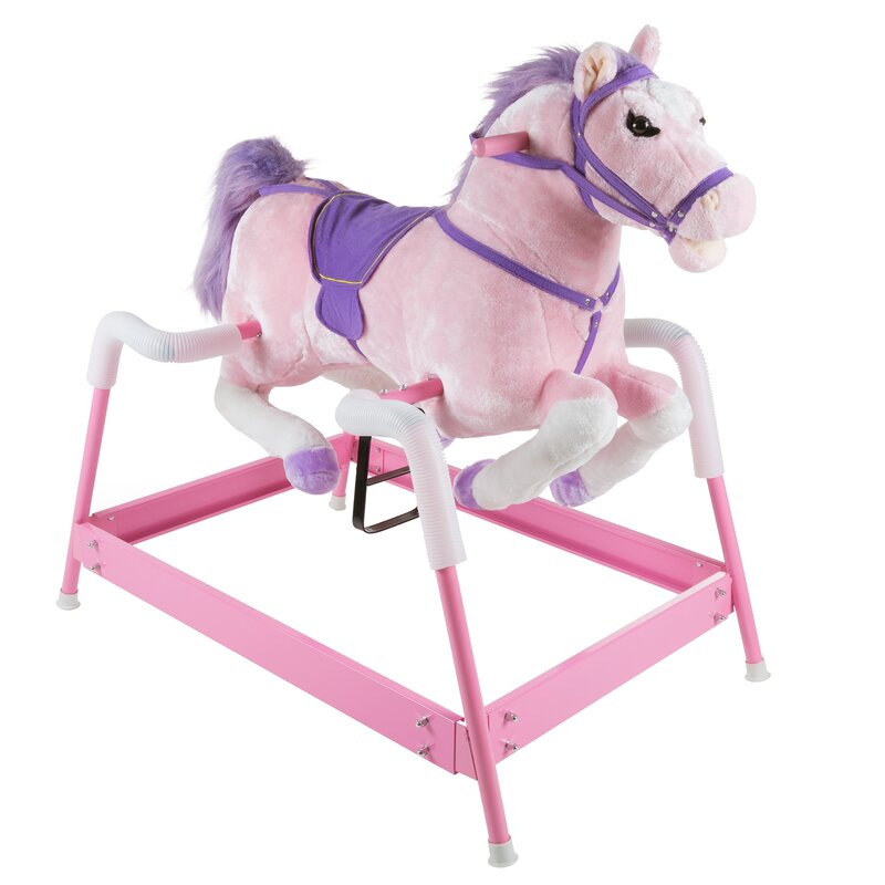 Removable Water-Activated Wallpaper Pink Horses Texas Baby Girl Equestrian