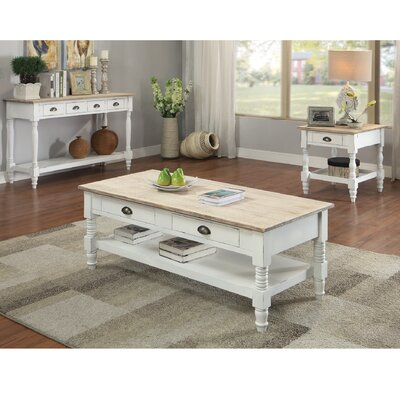 Abby Ann Coffee Table with Tray Top by August Grove