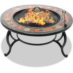 Mccaughey  Steel Charcoal/ Wood Burning Fire Pit Table By Sol 72 Outdoor