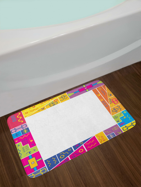 East urban home colorful frame design with abstract fun african motifs ethnic geometric artistic bath rug wayfair