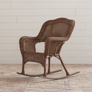 Narron Wicker Resin Outdoor Rocking Chair (Set of 2) by Lark Manor