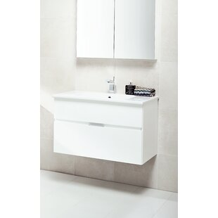 Philomene 100cm Wall-Mounted Vanity Unit Base By Ebern Designs