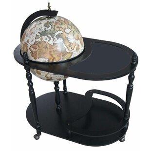 Merske LLC Arezzo Globe Bar Trolley