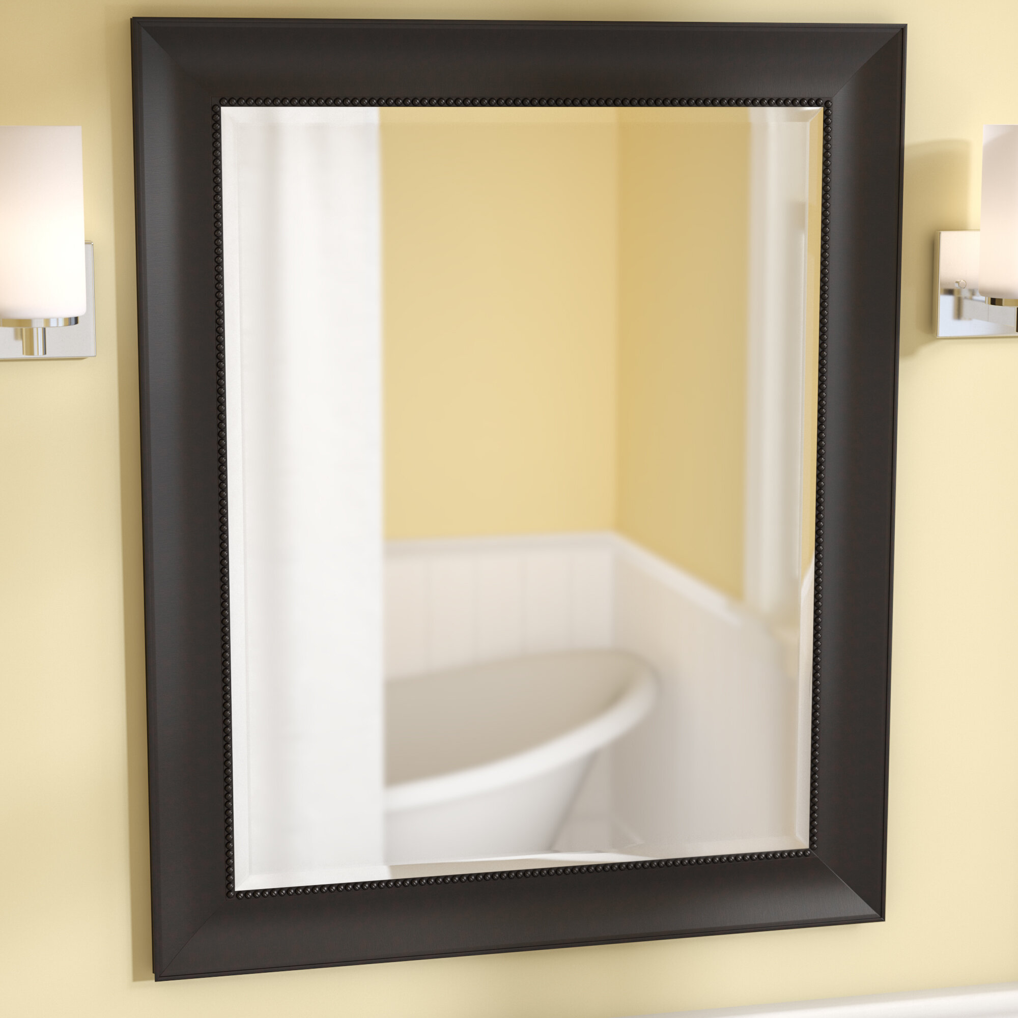 Darby Home Co Beaded Inner Lip Bathroom/Vanity Wall Mirror | Wayfair