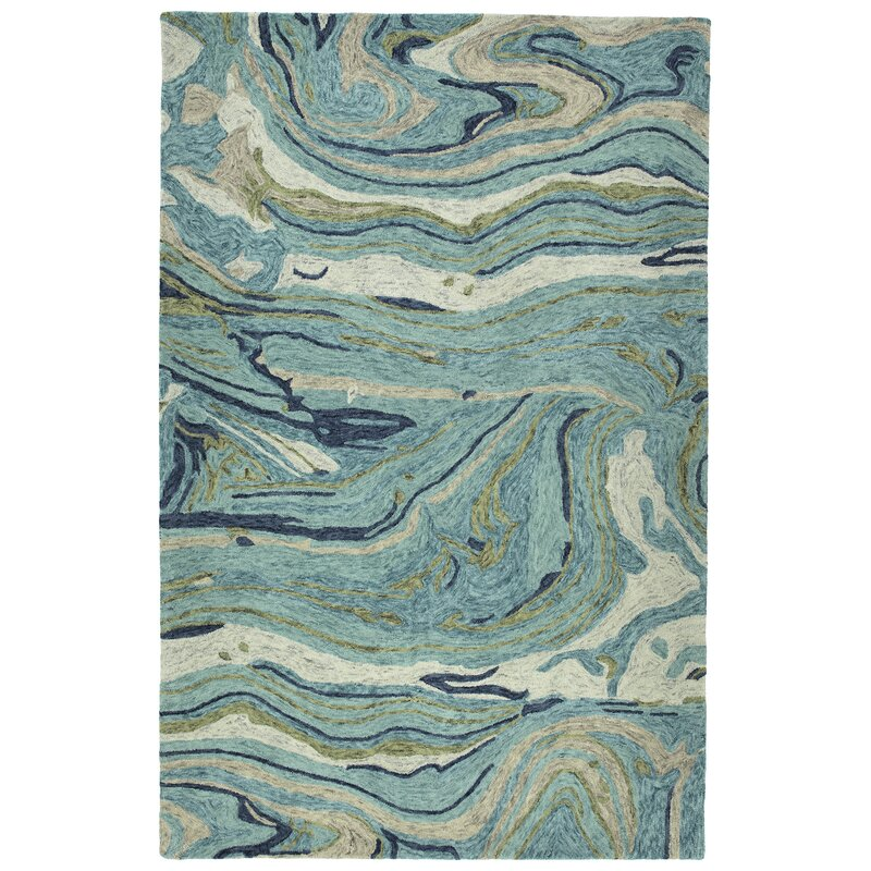 Wrought Studio Apostol Hand Tufted Wool Teal Area Rug Reviews Wayfair
