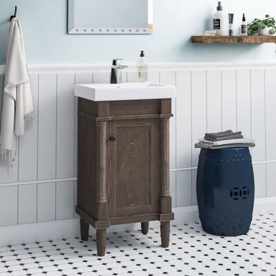 Gracie Oaks Malena 18 Single Sink Bathroom Vanity Set
