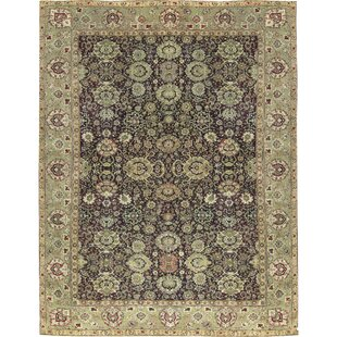 One-of-a-Kind Agra Hand-Knotted Wool Wine/Green Indoor Area Rug By Bokara Rug Co., Inc.