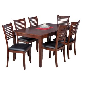 Downieville-Lawson-Dumont 7 Piece Wood Dining Set by Loon Peak