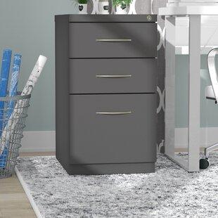 Symple Stuff Kemmer Arch Pull 3 Drawer Mobile Vertical Filing Cabinet