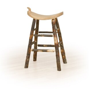 Summit Hickory 24 Western Saddle Stool Millwood Pines