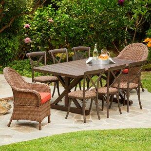 One Allium Way Acree Hacienda Heights 9 Piece Dining Set with Cushions