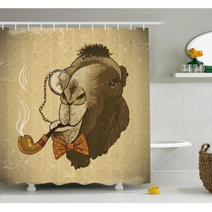 Animal Hipster Pop Art Vintage Single Shower Curtain