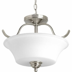 Rennie 2 Light Semi Flush Mount by Darby Home Co