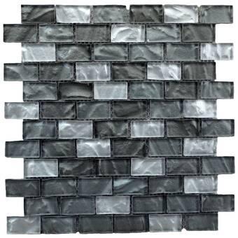 Elitetile Sierra 0 58 X 1 88 Glass And Natural Stone Mosaic Tile Reviews Wayfair