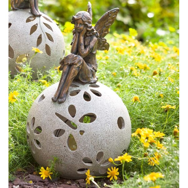 image Daydreaming Fairy Solar Light Garden Statue byPlow & Hearth