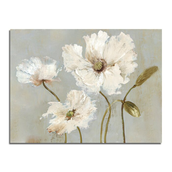 'White Flower' - Wrapped Canvas Print