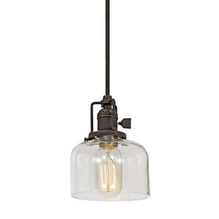 Gracie Oaks Edgar 1-Light Dome Pendant