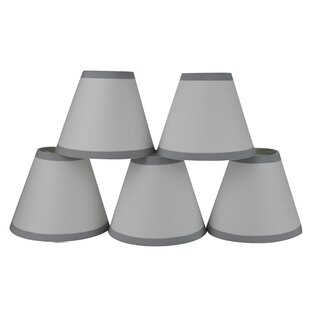 6 Cotton Empire Clip-on Lamp Shade with Trim (Set of 5)