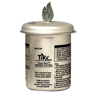 TIKI Brand Clean Burn Firepiece Roundwick Burner System Replacement for Small Table Torch (Set of 2)