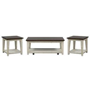 August Grove Lexie 3 Piece Coffee Table Set
