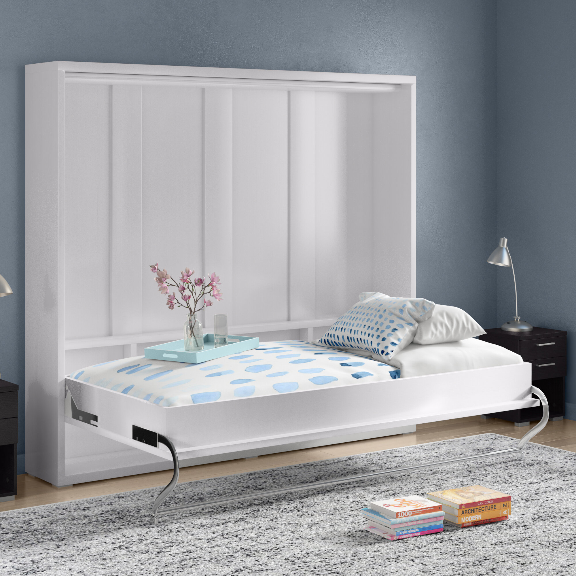 Brayden Studio Van Wyck Murphy Bed With Mattress Amp Reviews