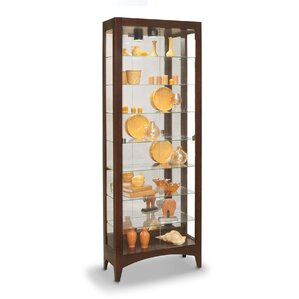 Simplicity Lighted Curio Cabinet by Phili..
