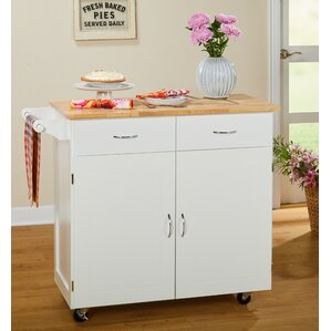 Sammons Kitchen Island With Wood Top