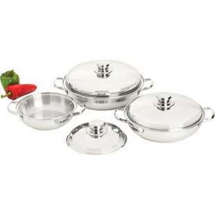 Precise Heat 6 Piece Saute Set with Lid